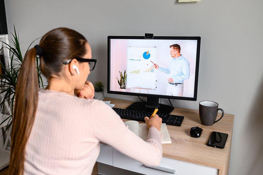 HR Watching Educational Video