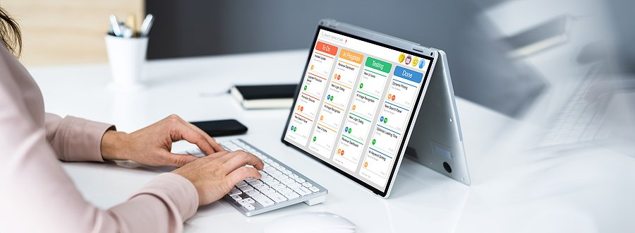 Person Using an HRIS System